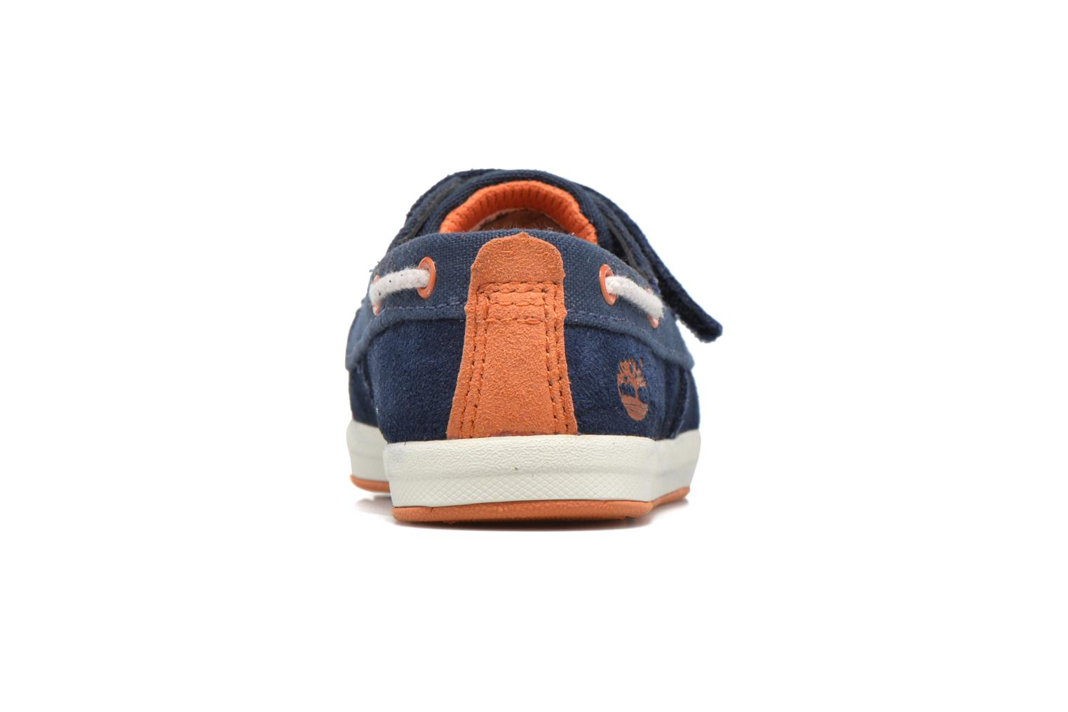 Velcro shoes Timberland Dover Bay H&L Boat Blue view from the right