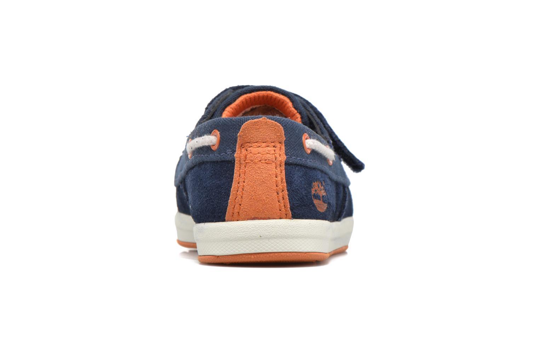 Chaussures à scratch Timberland Dover Bay H&L Boat Bleu vue droite
