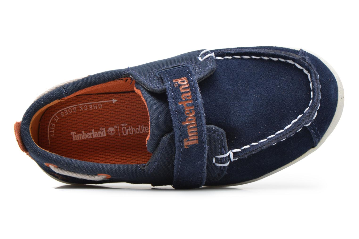 Velcro shoes Timberland Dover Bay H&L Boat Blue view from the left