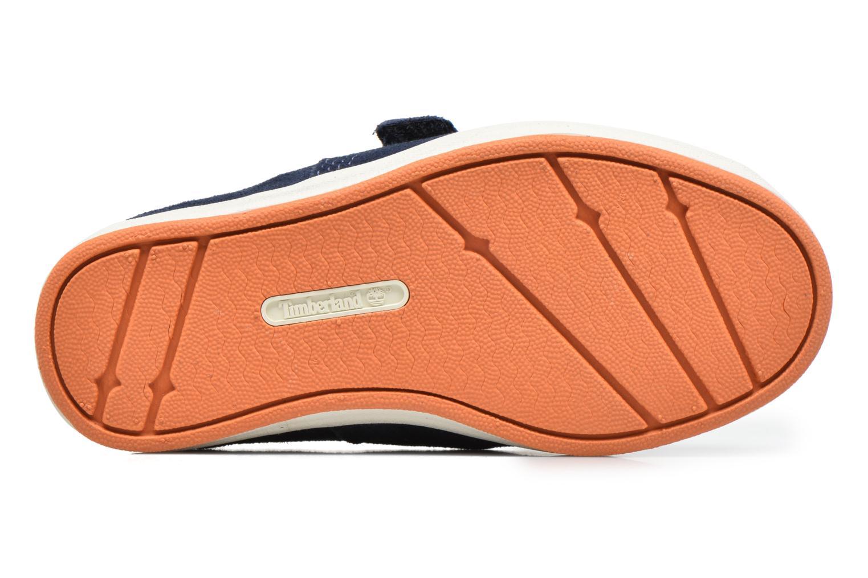 Chaussures à scratch Timberland Dover Bay H&L Boat Bleu vue haut
