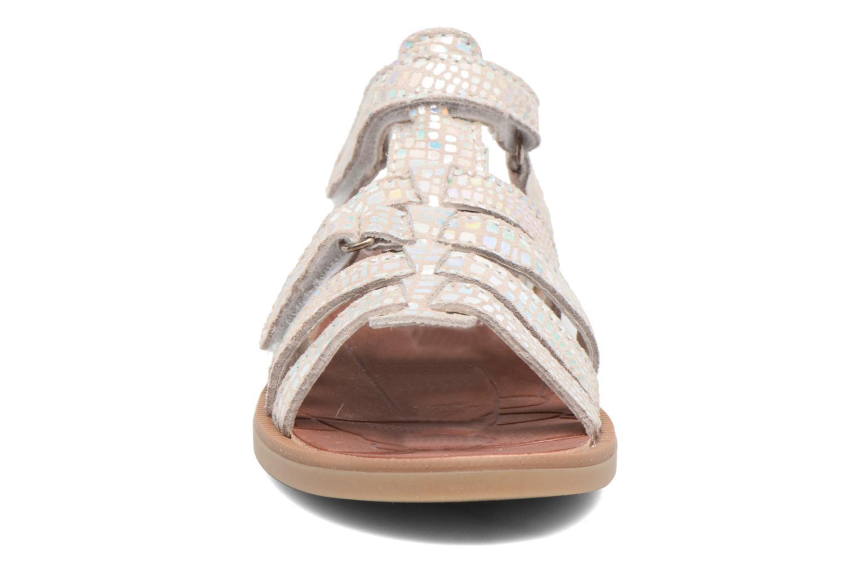 Sandales et nu-pieds Achile Katagami Argent vue portées chaussures