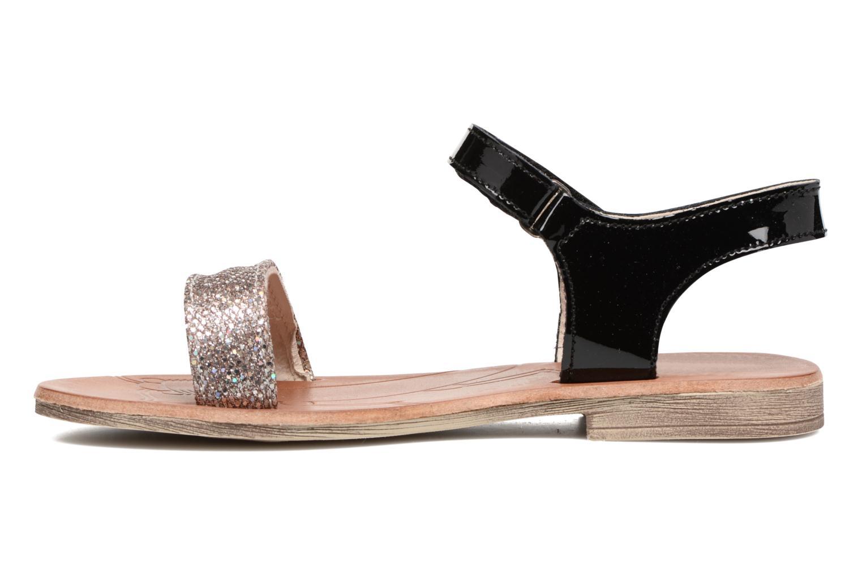 Sandales et nu-pieds Achile Komaki Noir vue face