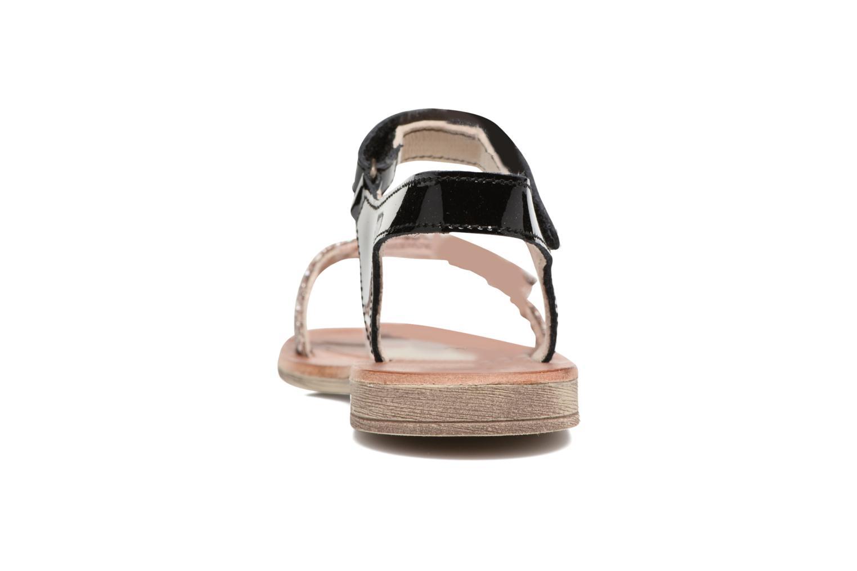 Sandales et nu-pieds Achile Komaki Noir vue droite