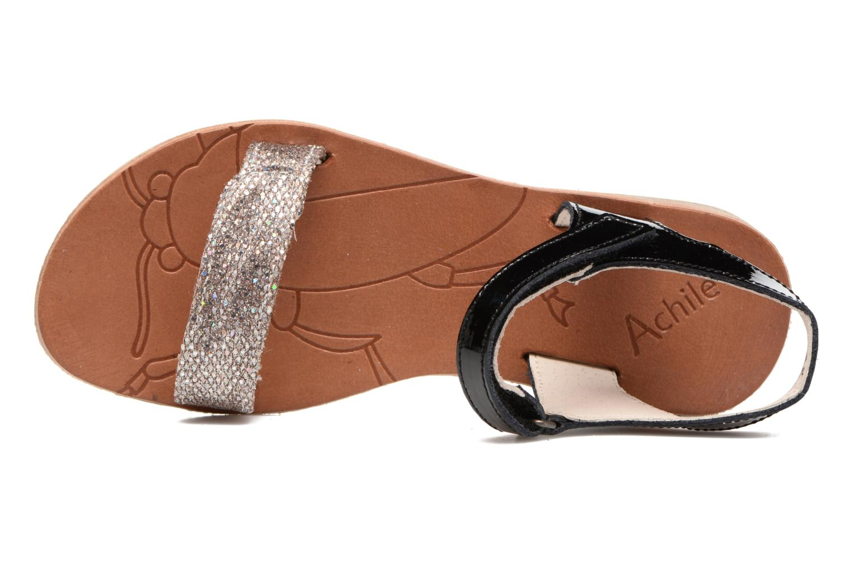 Sandales et nu-pieds Achile Komaki Noir vue gauche