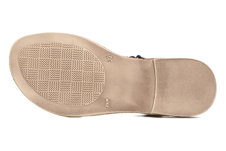 Sandales et nu-pieds Achile Komaki Noir vue haut