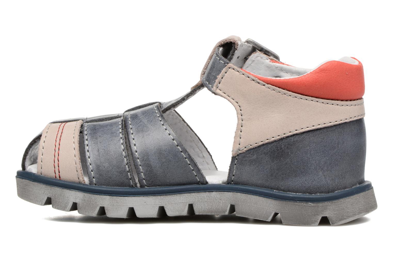 Sandales et nu-pieds GBB Pelage Bleu vue face