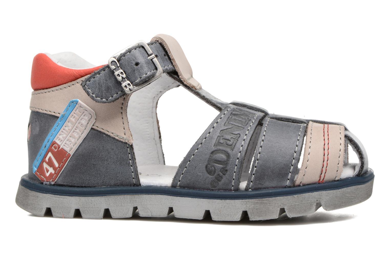 Sandales et nu-pieds GBB Pelage Bleu vue derrière