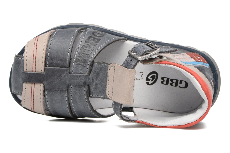 Sandales et nu-pieds GBB Pelage Bleu vue gauche