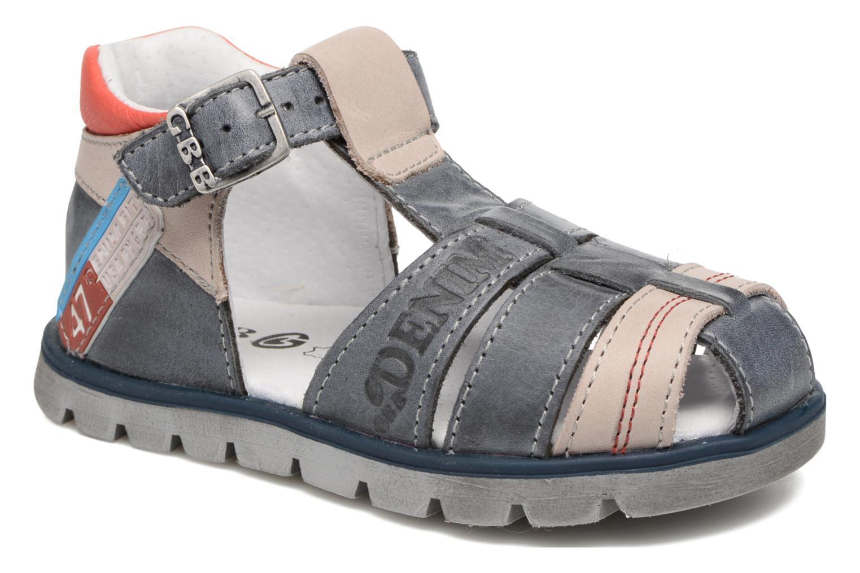 Sandales et nu-pieds GBB Pelage Bleu vue détail/paire