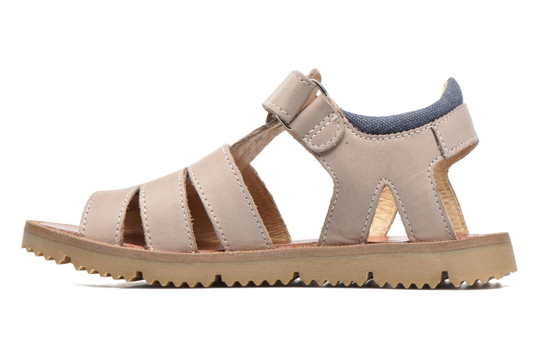Sandales et nu-pieds GBB Pathe Gris vue face