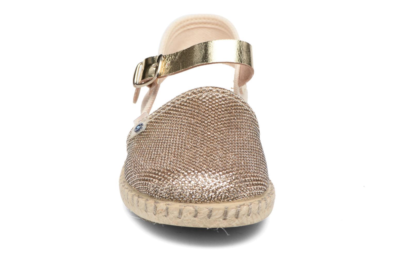 Sandales et nu-pieds Conguitos Elena Or et bronze vue portées chaussures