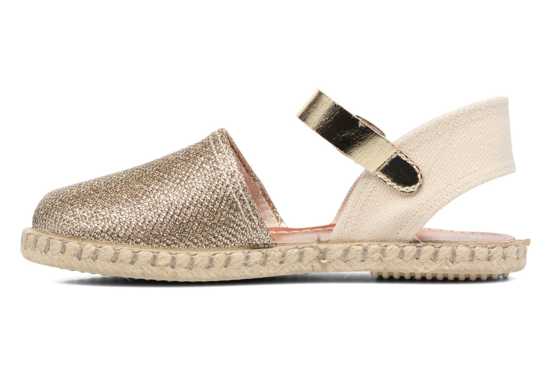 Sandales et nu-pieds Conguitos Elena Or et bronze vue face