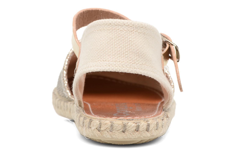Sandales et nu-pieds Conguitos Elena Or et bronze vue droite