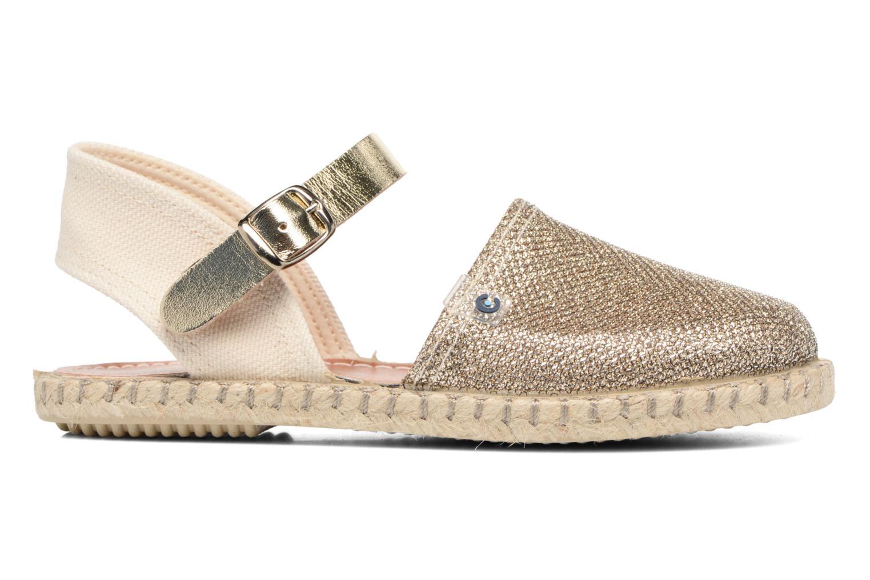Sandales et nu-pieds Conguitos Elena Or et bronze vue derrière