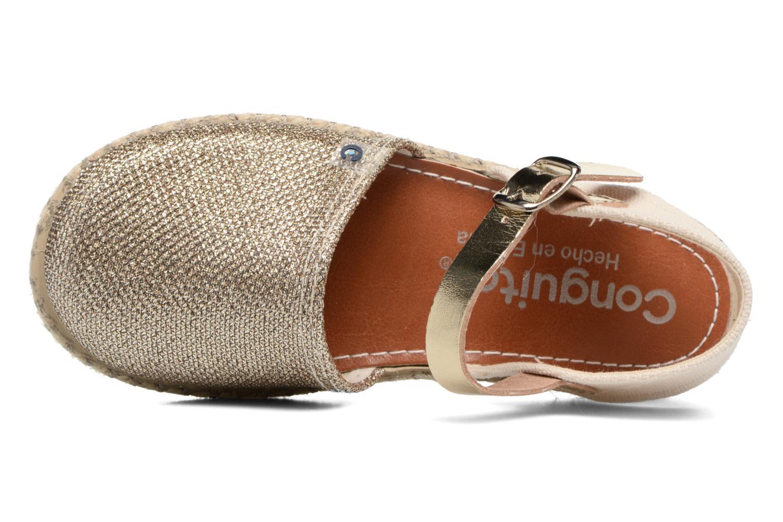 Sandales et nu-pieds Conguitos Elena Or et bronze vue gauche