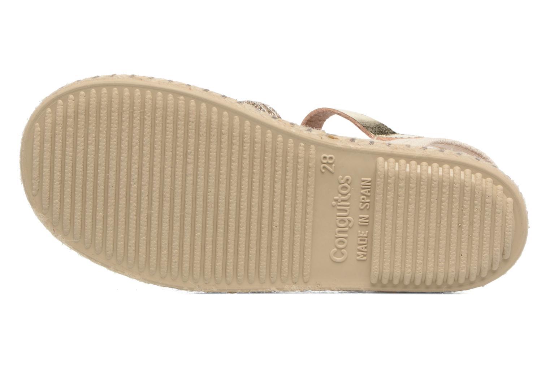 Sandales et nu-pieds Conguitos Elena Or et bronze vue haut