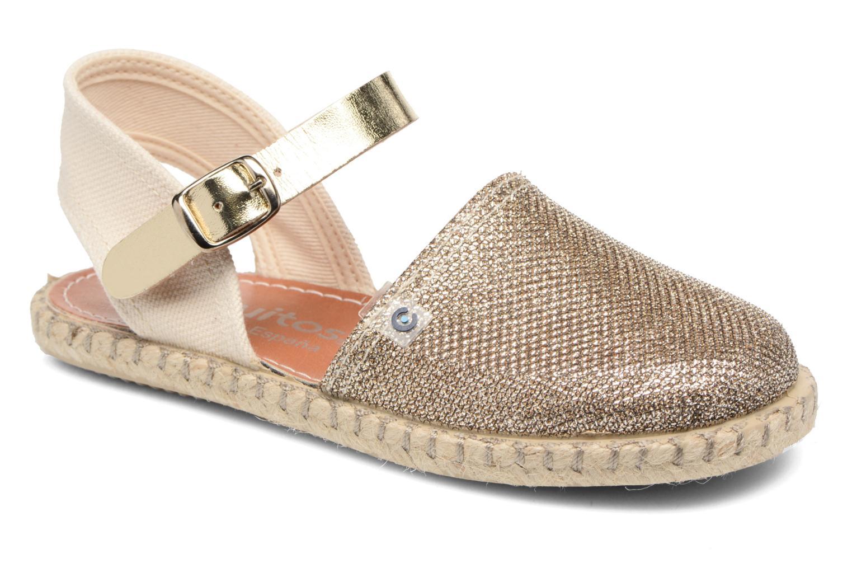 Sandales et nu-pieds Conguitos Elena Or et bronze vue détail/paire