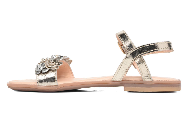 Sandales et nu-pieds Conguitos Felicia Or et bronze vue face