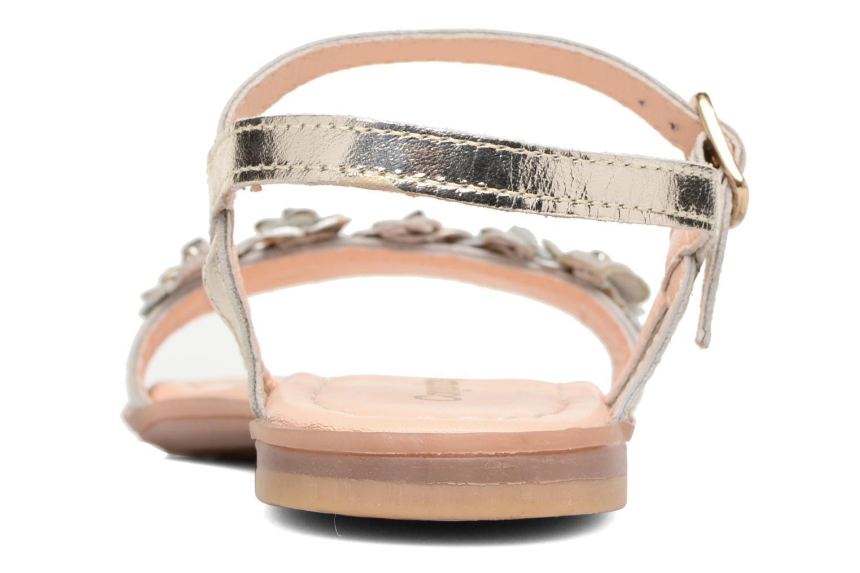 Sandales et nu-pieds Conguitos Felicia Or et bronze vue droite