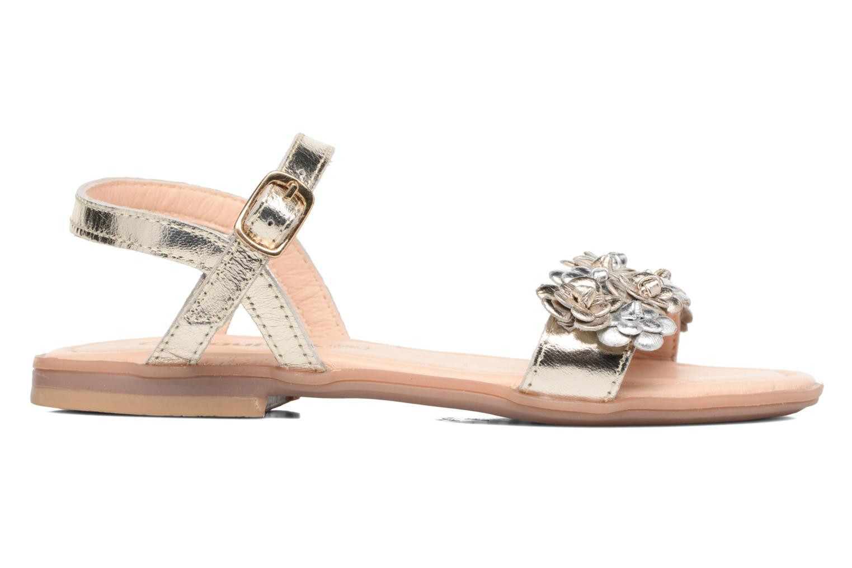 Sandales et nu-pieds Conguitos Felicia Or et bronze vue derrière
