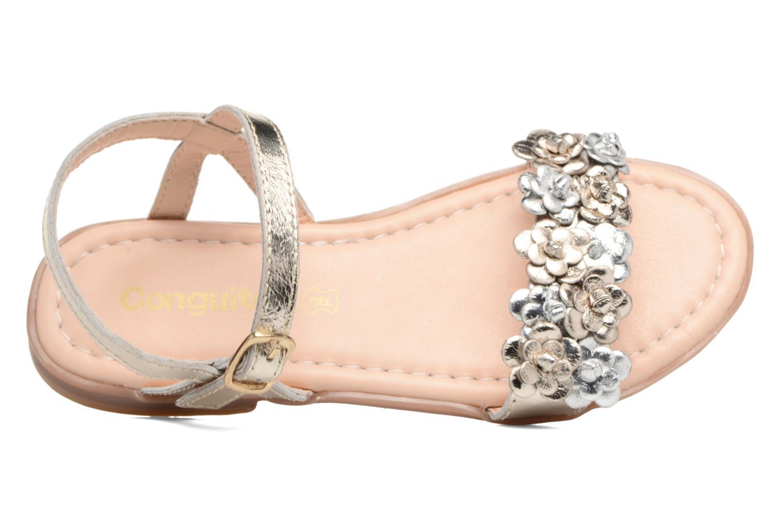 Sandales et nu-pieds Conguitos Felicia Or et bronze vue gauche
