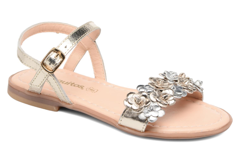 Sandales et nu-pieds Conguitos Felicia Or et bronze vue détail/paire