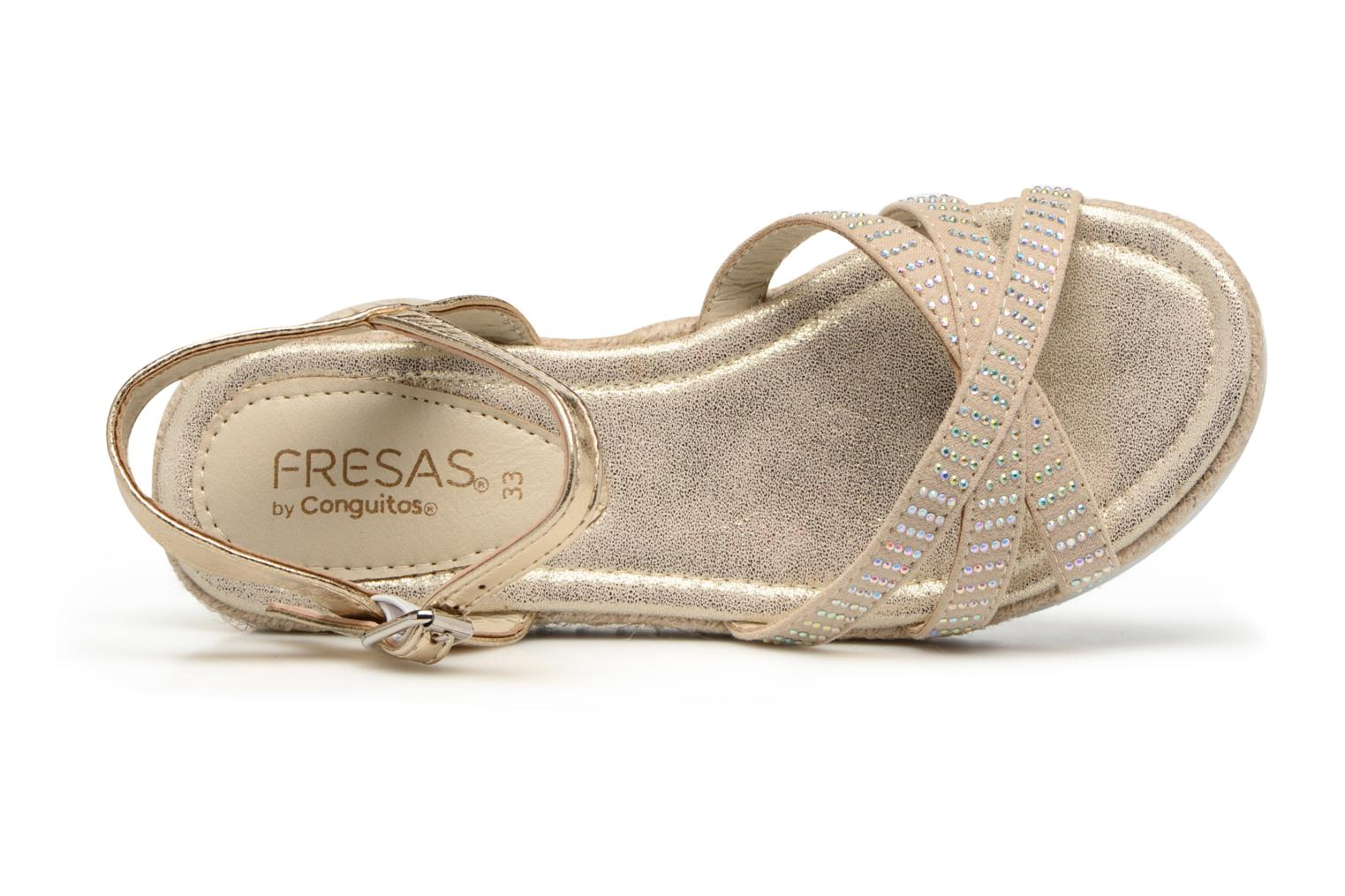 Sandalen Fresas by Conguitos Carolina Goud en brons links