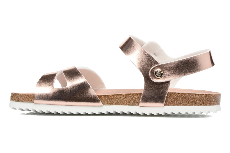 Sandales et nu-pieds Fresas by Conguitos Claudia Or et bronze vue face