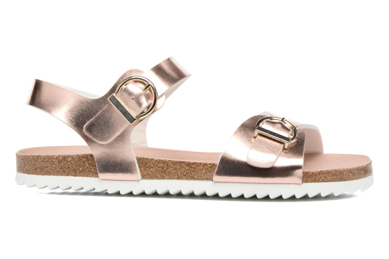 Sandales et nu-pieds Fresas by Conguitos Claudia Or et bronze vue derrière
