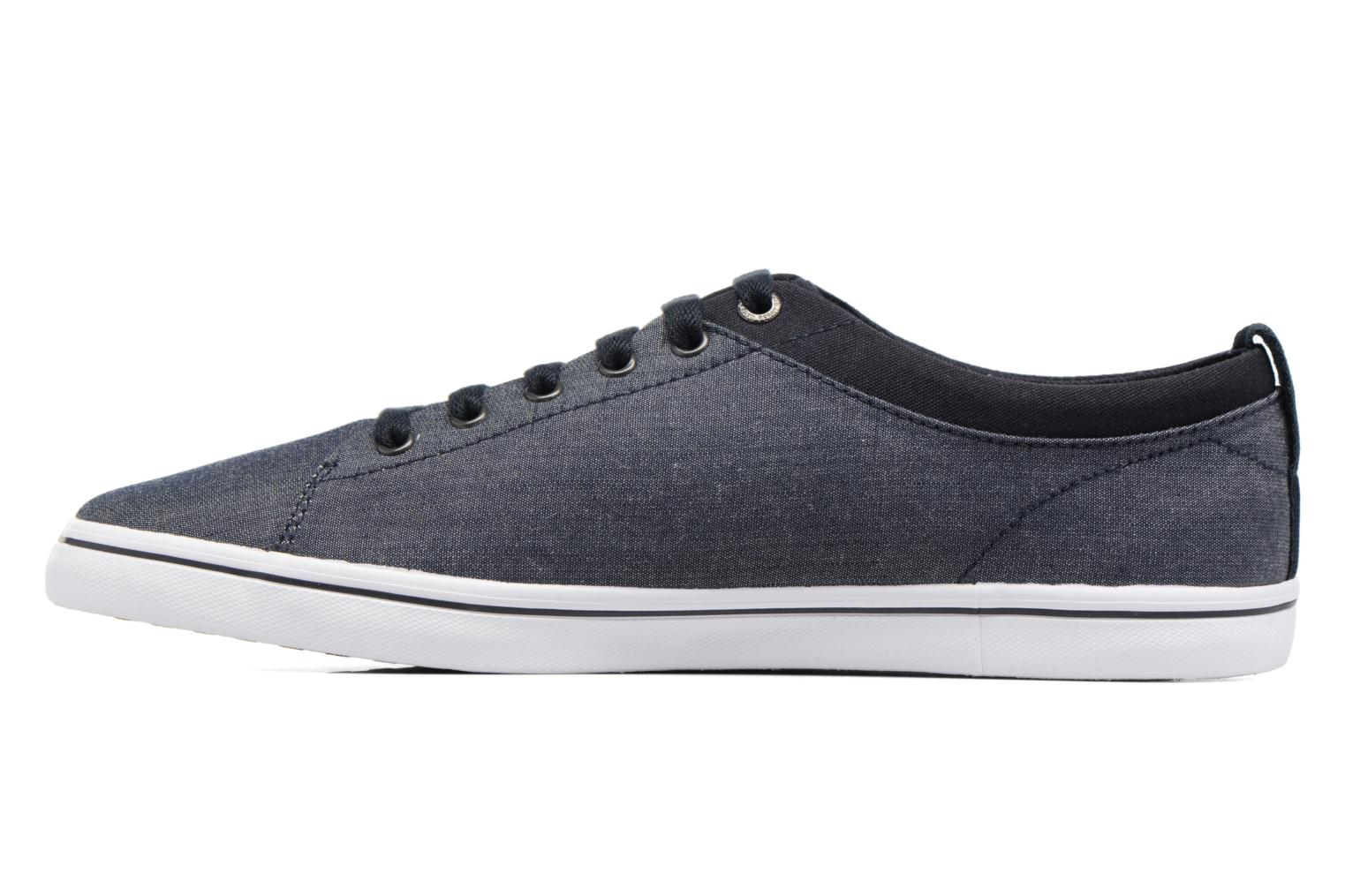 Baskets Fred Perry Hallam Chambray Bleu vue face