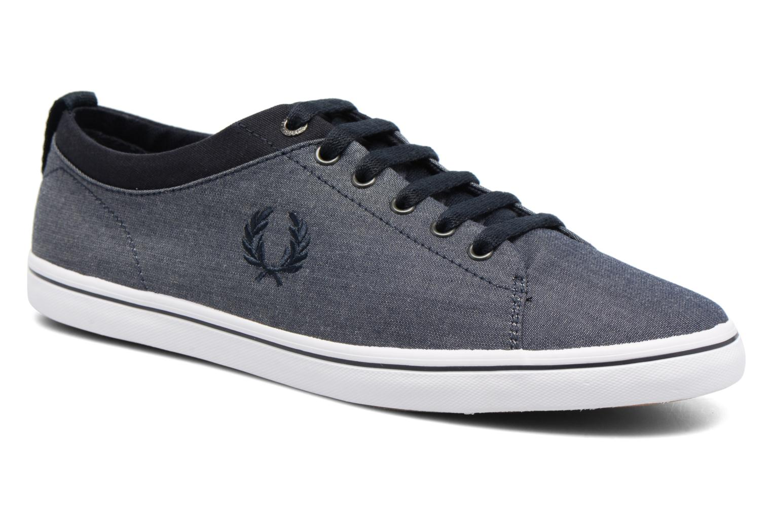 Baskets Fred Perry Hallam Chambray Bleu vue détail/paire