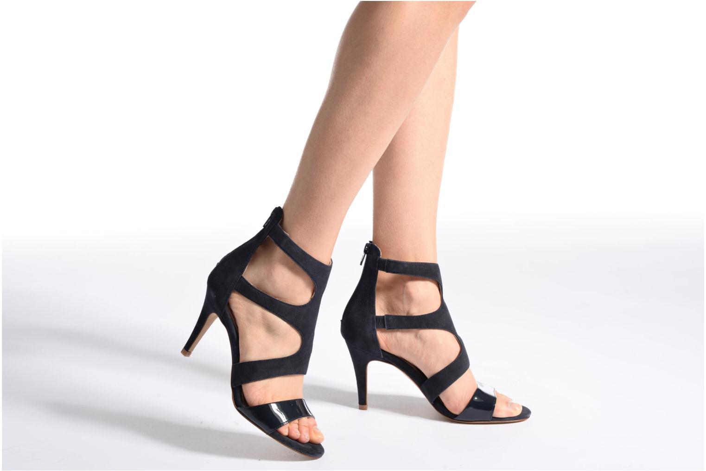 Sandales et nu-pieds Georgia Rose Sichic Noir vue bas / vue portée sac