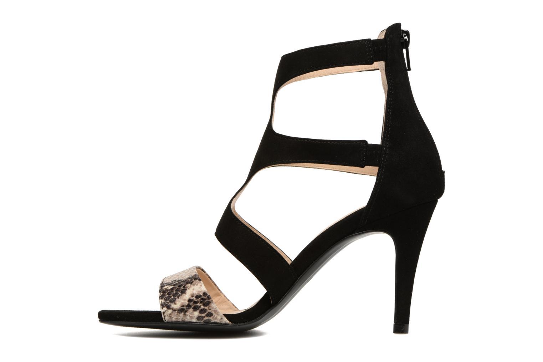 Sandales et nu-pieds Georgia Rose Sichic Noir vue face