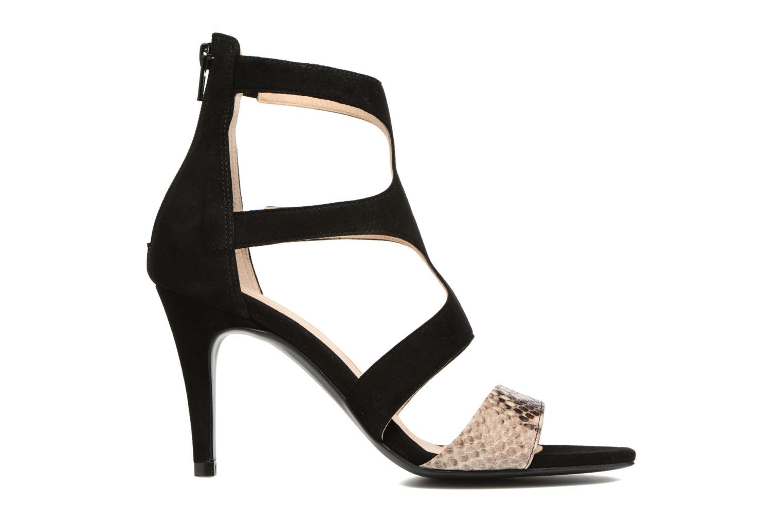 Sandales et nu-pieds Georgia Rose Sichic Noir vue derrière