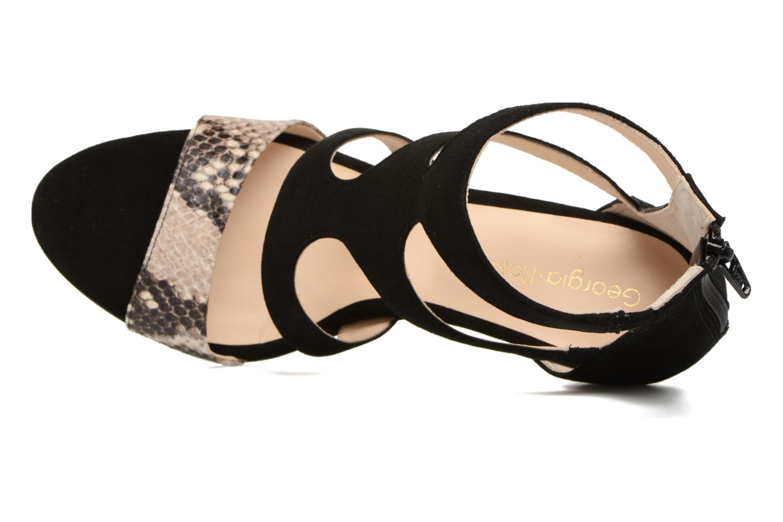 Sandales et nu-pieds Georgia Rose Sichic Noir vue gauche