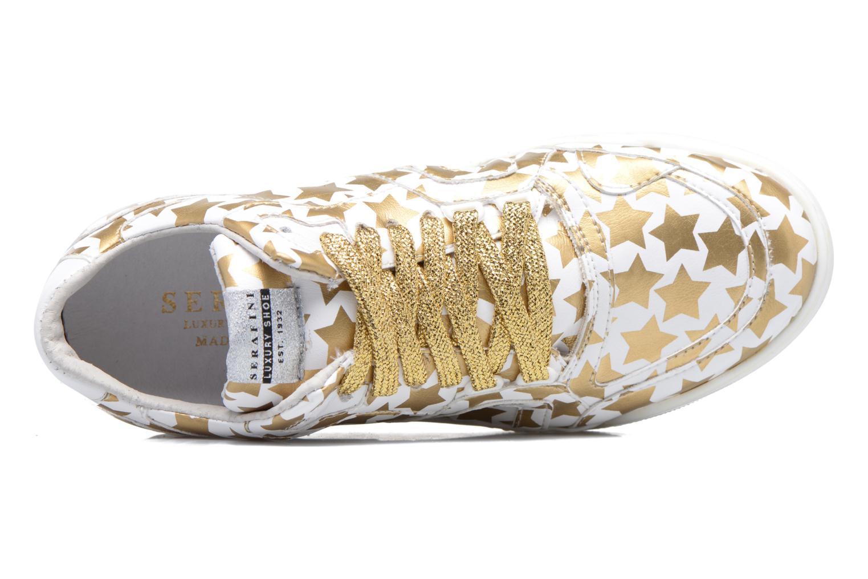 Skate White & Gold Stars