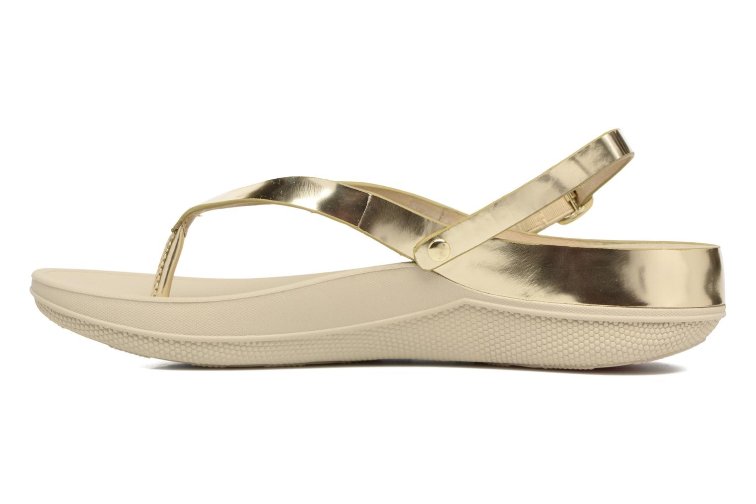 Sandals FitFlop Flip Leather Sandal Bronze and Gold front view