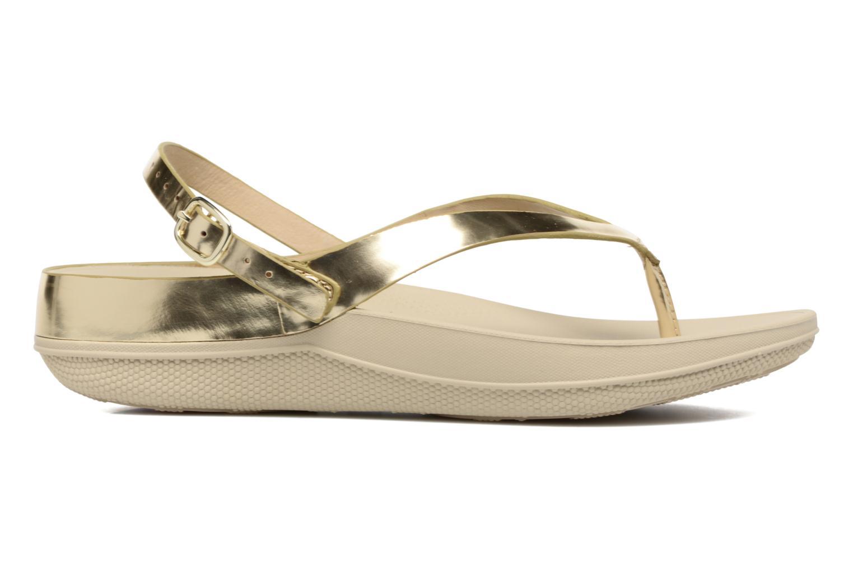 Sandales et nu-pieds FitFlop Flip Leather Sandal Or et bronze vue derrière
