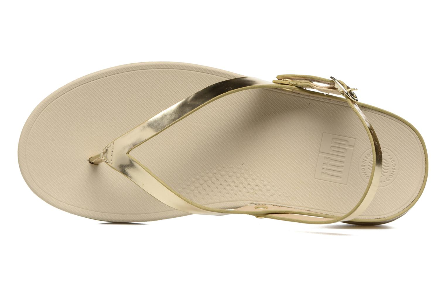Sandals FitFlop Flip Leather Sandal Bronze and Gold view from the left