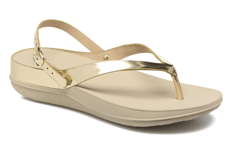 Sandales et nu-pieds FitFlop Flip Leather Sandal Or et bronze vue détail/paire