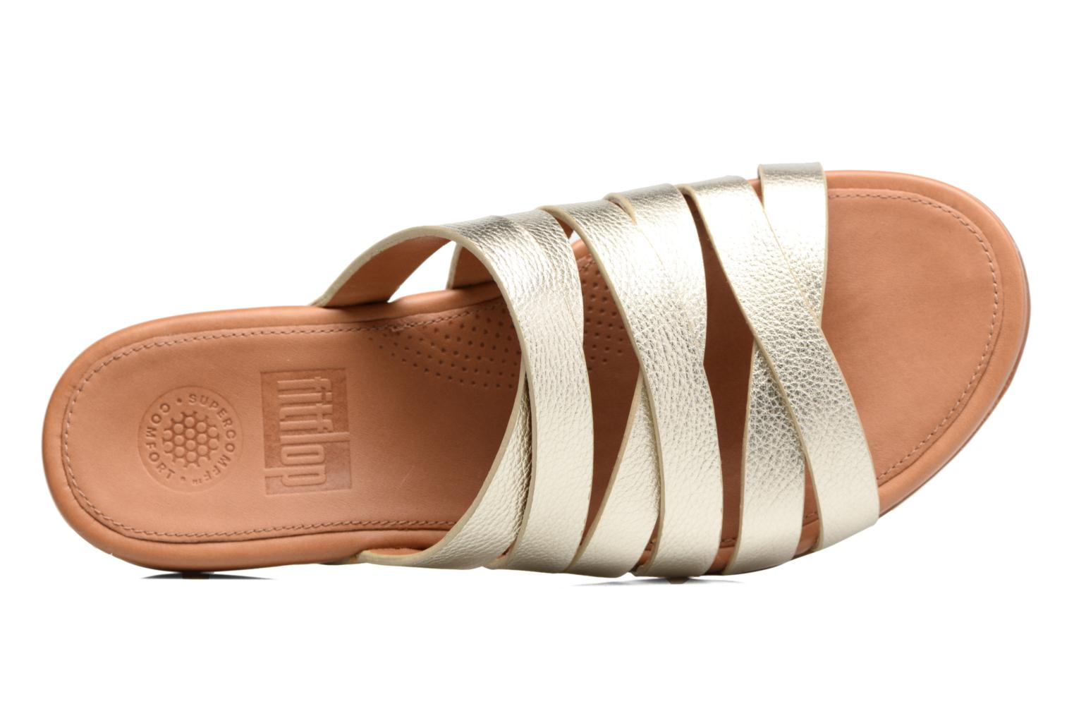 Lumy Leather Slide Pale Gold