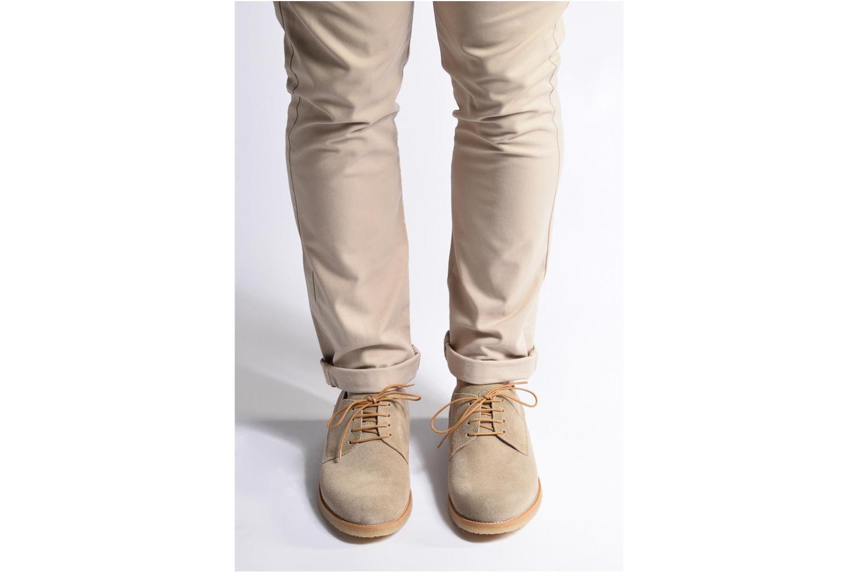 Chaussures à lacets Mr SARENZA Soldn Beige vue bas / vue portée sac
