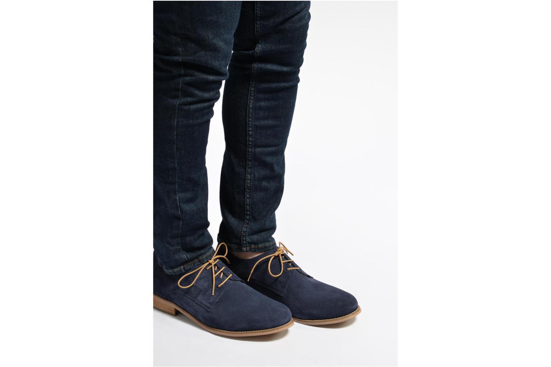Chaussures à lacets Mr SARENZA Sallique Bleu vue bas / vue portée sac