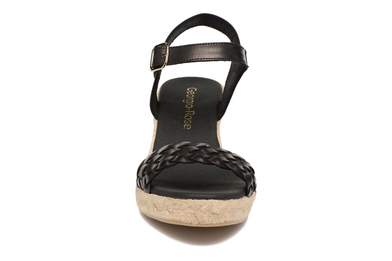 Espadrilles Georgia Rose Itresse Noir vue portées chaussures