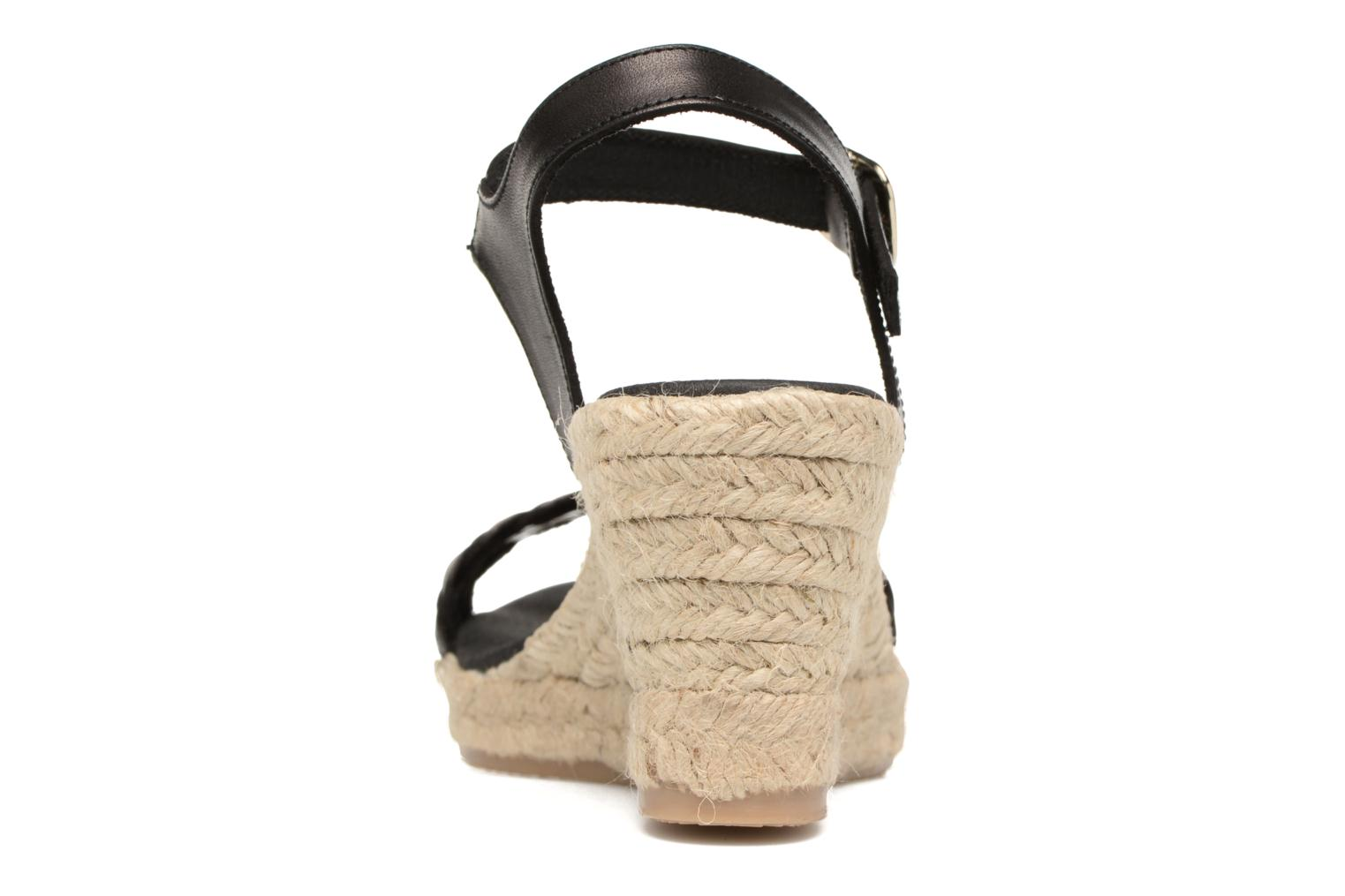Espadrilles Georgia Rose Itresse Black view from the right