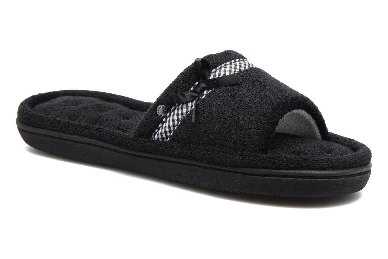Sandale plate éponge bambou Noir