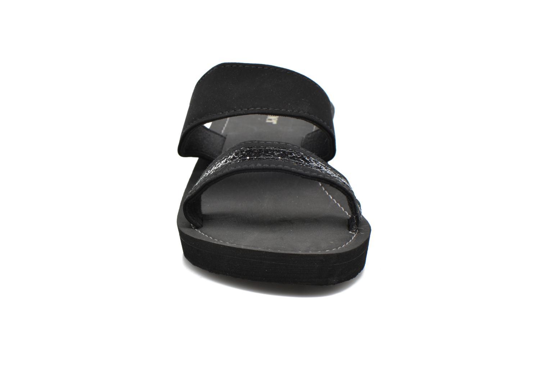 Mules et sabots Isotoner Tong strass Noir vue portées chaussures