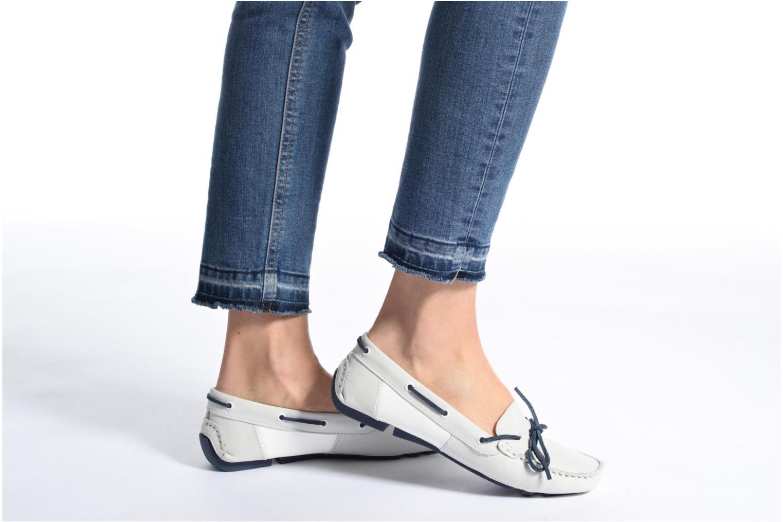 Chaussures à lacets TBS Bettsy Rouge vue bas / vue portée sac