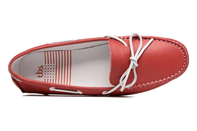 Chaussures à lacets TBS Bettsy Rouge vue gauche