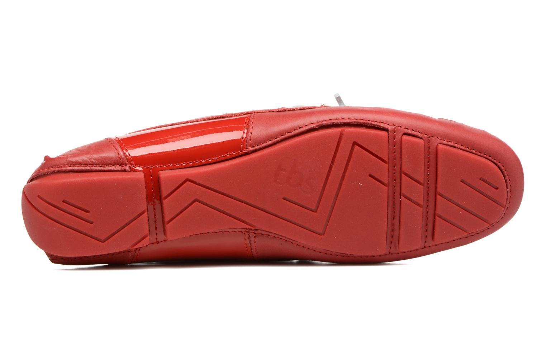 Chaussures à lacets TBS Bettsy Rouge vue haut